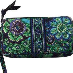 Vera Bradley Wristlet in Multi, Green, Purple, Torquoise