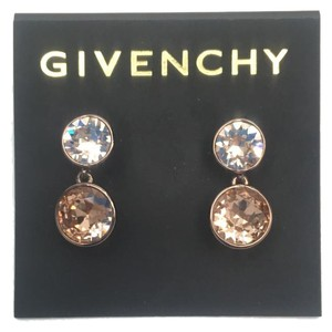 Givenchy Swarovski elements rose crystals sets in goId tone dangled earring