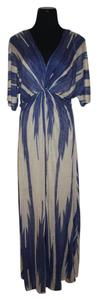 Blue and Beige Maxi Dress by Ralph Lauren