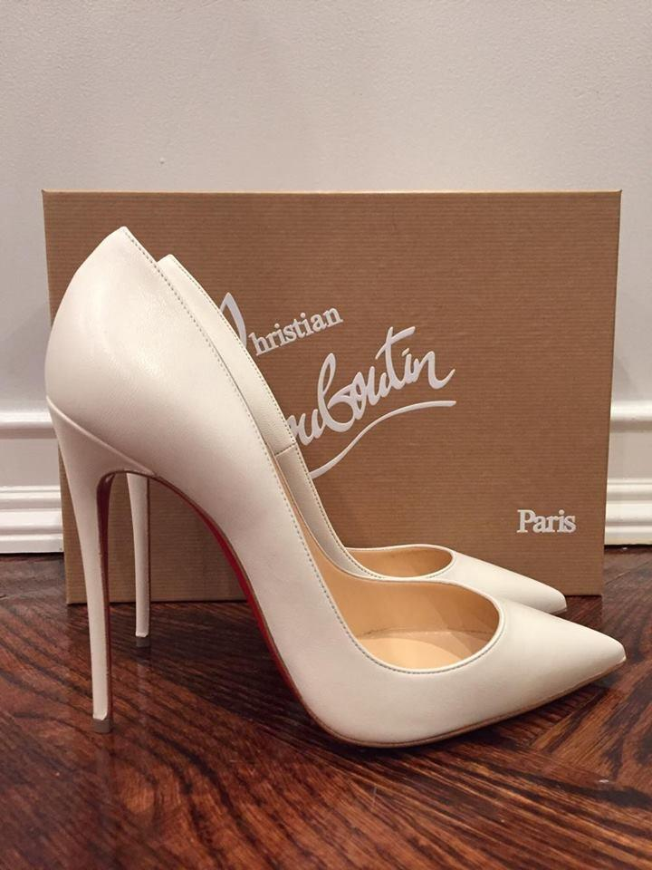 sale retailer 86bbd 131fd Christian Louboutin White So Kate 120 Edelweiss Leather Heel 41 Pumps Size  US 11 Regular (M, B)