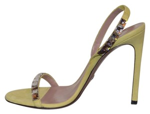 Gucci Leather Sandals Yellow Pumps