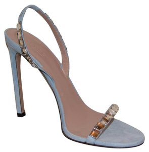 Gucci Leather Sandals Studded Sandals Blue Pumps