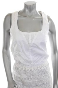 Jessica Simpson short dress Bridal Engagement Photos White Lace Crochet on Tradesy