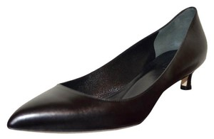 Gucci Leather Pointed Toe Heel Pump Black Pumps