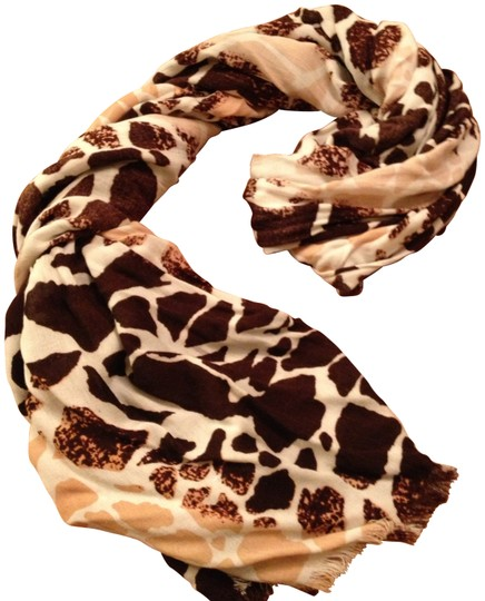 Preload https://item3.tradesy.com/images/alfani-brown-black-tan-and-white-animal-print-long-twist-scarfwrap-164252-0-0.jpg?width=440&height=440