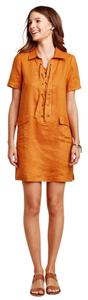 Anthropologie short dress Orange, Mango on Tradesy