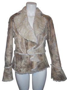 Pamela McCoy brown & tan Jacket