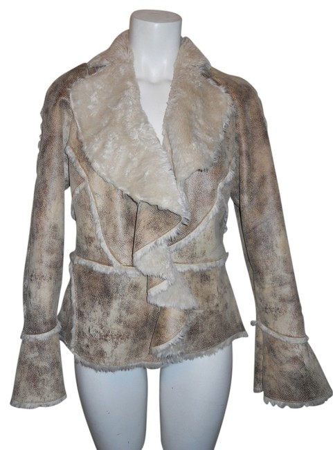 Preload https://item2.tradesy.com/images/pamela-mccoy-brown-and-tan-faux-leather-size-2-xs-1642526-0-0.jpg?width=400&height=650