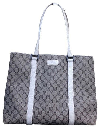 Gucci Tote in Beige/ White