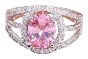 Other New Sterling Silver Pink Sapphire Ring Sz 6