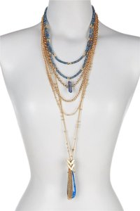 Sparkling Sage Sparkling Sage Layered Chain and Bead Mixed Pendant Necklace Set