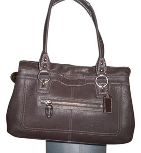 Coach Leather Penelope Tote in brown