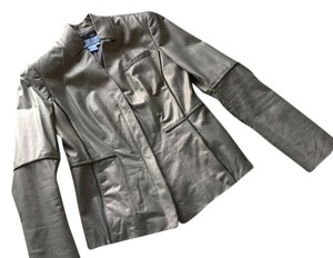 Worth Metallic gold Leather Jacket