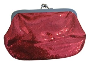 Express Red Sparkle Clutch