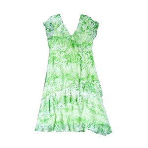Sundance Chiffon Ruffled Mid-calf Dress