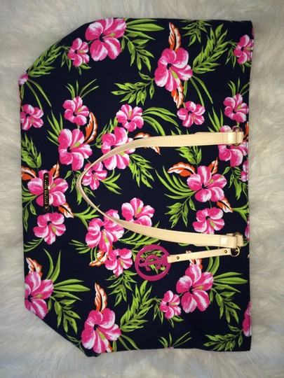 Juicy Couture Summer Spring Flowers Hiniscus Tote in Multi