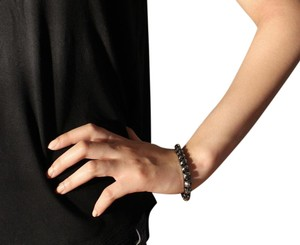 Express Adjustable Black Metallic Bracelet