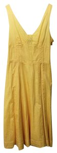 Gap short dress Yellow Cotton Summer on Tradesy