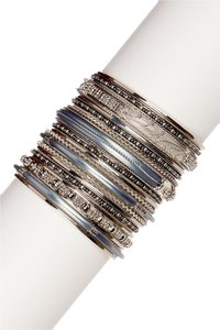 Amrita Singh Amrita Singh Amila Bangle Set 8 Grey/Gold