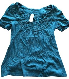 Anthropologie Vintage Antique Top Green