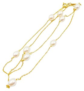 Tiffany & Co. Elsa Peretti 18K Gold Cultured Pearls By The Yard Necklace