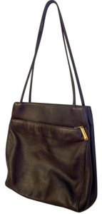 Giani Bernini Leather Gold Trim Soft Supple Tote Satchel in Black
