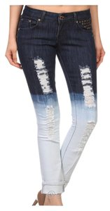 Other Skinny Ombre Tye Dye 5th Pocket Distressed Skinny Jeans