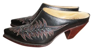 Charlie 1 Horse by Lucchese Boots Western Cowboy Black Mules