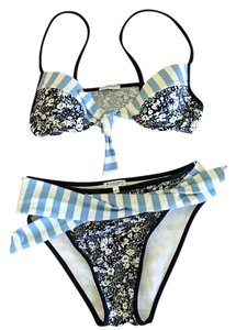 788881c0b1ae7 Burberry London Blue Check Trim Triangle Bikini Top Size 2 (XS ...