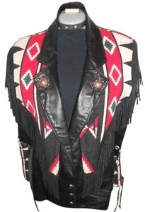 ONDIE TOWNE U.S.A Leather Vest