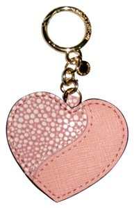 Michael Kors Michael Kors HeartBreaker Leather Charm Key Chain Boxed, Pale Pink