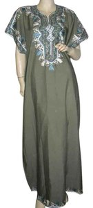 turquoise, olive greeb Maxi Dress by fashionista
