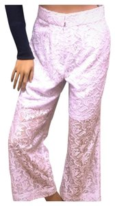 Lace Casual Club Wear Dress Boot Cut Pants White