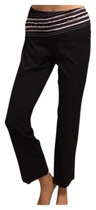 The Limited Stretchy Casual Dress Stripes Business Straight Pants Black White Cream