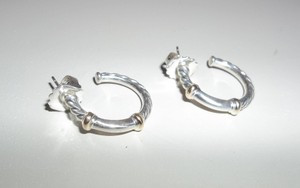 David Yurman New David Yurman Metro Hoop Earrings with gold
