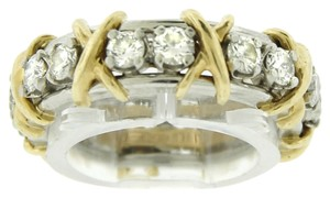 TIFFANY & CO. TIFFANY & CO. SCHLUMBERGER PLATINUM GOLD 1.14CT DIAMOND 16 STONE RING