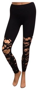 Rue 21 Destroyed Ripped Distressed Black Leggings