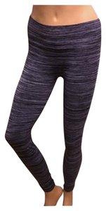 Bongo Yooga Work Out Pants Pinstripe Black Gray Leggings