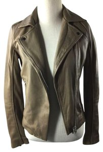 Zara Taupe Leather Jacket