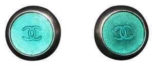 Chanel Chanel Circular Teal Clip On Earrings