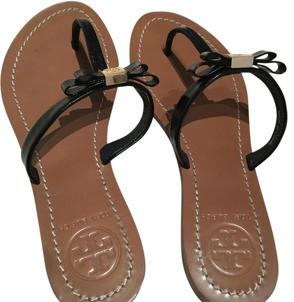 7276a14b6eb Tory Burch Black Leighanne Sandals Size US 6.5 Regular (M