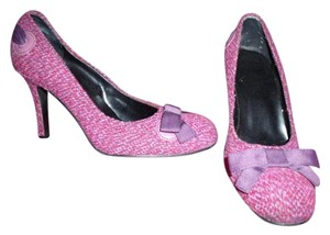 Other Colorful Ribbon Bows Fabric Uppers Mary Janes Pink and Purple Pumps