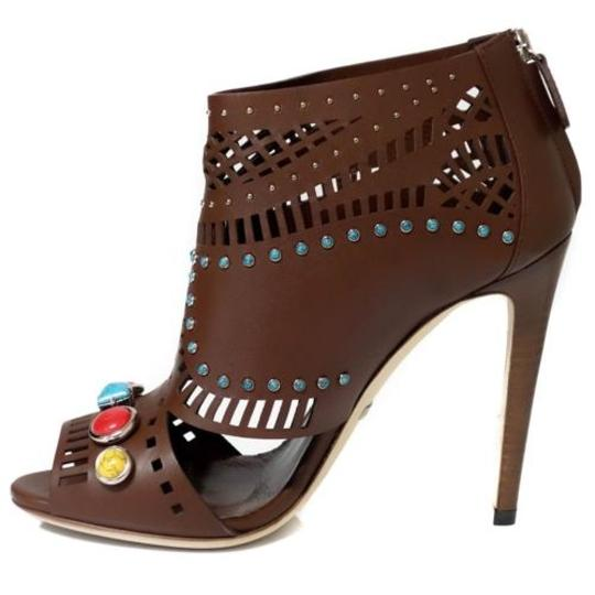 Gucci Ankle Ankle Sandals Brown Boots Image 3