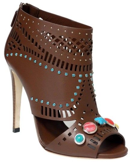 Gucci Ankle Ankle Sandals Brown Boots Image 7