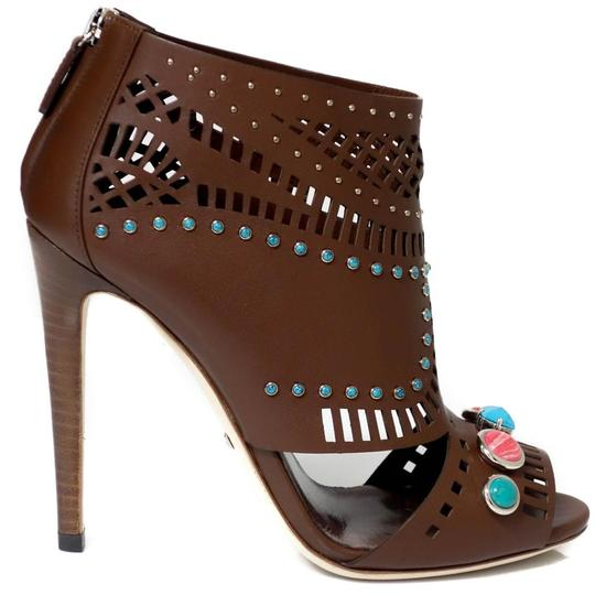 Gucci Ankle Ankle Sandals Brown Boots Image 11