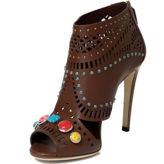 Gucci Ankle Ankle Sandals Brown Boots Image 9