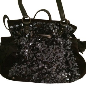 Juicy Couture Purse Sequin Daydreamer Sparkle Glitter Shiny black Messenger Bag