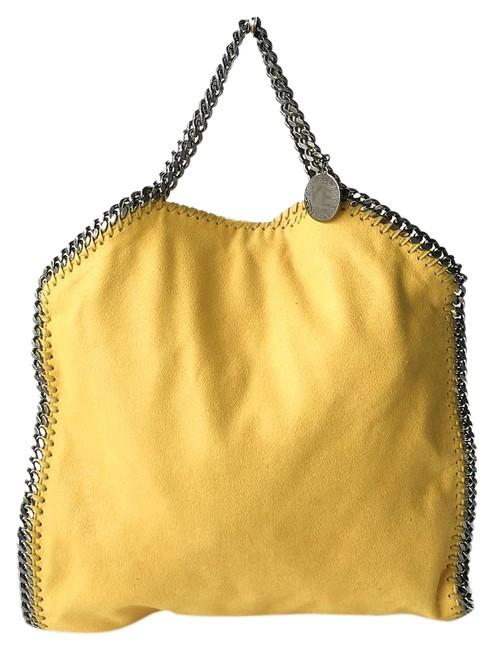 Item - 'small Falabella' Golden Syrup - Yellow Faux Leather Tote