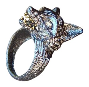 Alexis Bittar Alexis Bittar Elements Dark Phoenix Crystal Fox Head Ring $225 Size 8