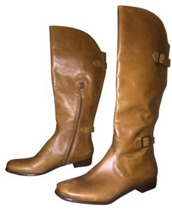 Wythe NY Leather Tan Saddle Boots